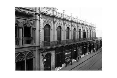 Vista del edificio cuando era la Confitería Telégrafo