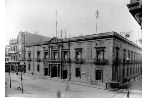 Vista desde calle Sarandí.