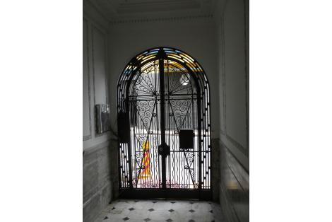 Puerta de acceso vista desde el interior