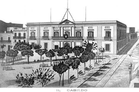 Vista hacia el Cabildo. CDF 583b