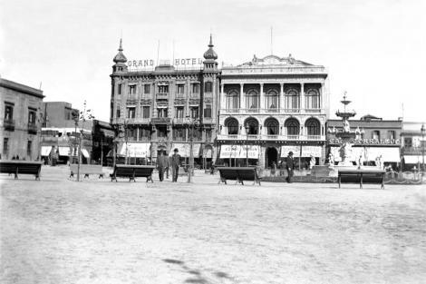 Plaza Constitución. Hotel Lanata primer etapa CDF_ pza matriz lanata _ 777b