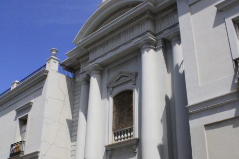 Vista d ela fachada de la Capilla