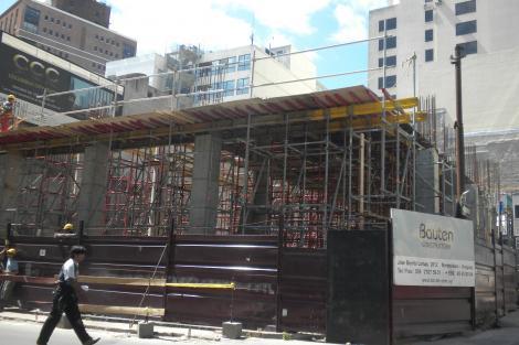 Vista de la obra en construcción
