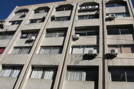 Vista fachada plantas altas
